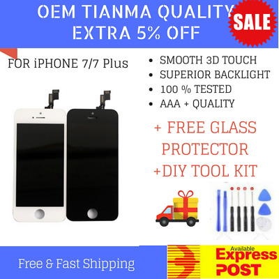 iPhone 7/7Plus LCD Touch Screen Replacement 3D FRONT Display Glass Black White