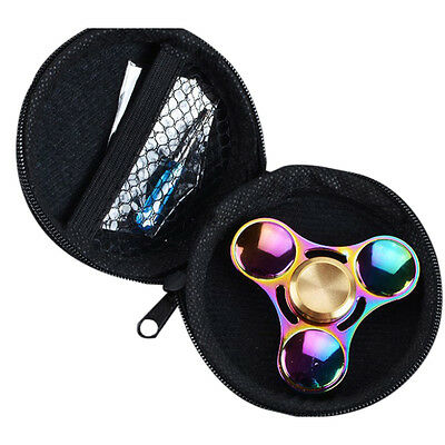 Triangle Finger Gyro Toy Focus Autism Bag  Fidget Hand Spinner Box Case Gift