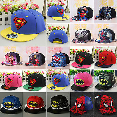 Superhero Toddler Baby Kids Hip Hop Baseball Cap Sun School Toddler Snapback Hat
