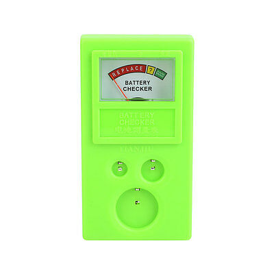 Watch Cell 3v CR Battery Power Volt Tester Checker CR2016 CR1620 Green