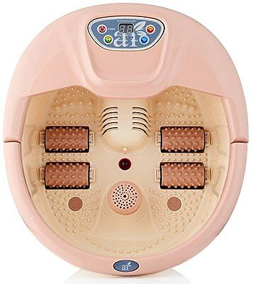 Best Foot Spa Bath Massager Vibration Heat Roller Bubble LED Display Relaxation