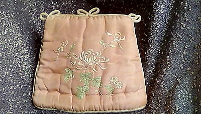 S22  -  Vintage Silk And Embroidered Tea Cosy