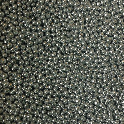 Mini Silver 100s & 1000s Dragees Pearls Edible Cake Toppers Cake Decorating