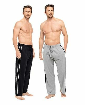 Mens Boys Medium Pyjama Bottoms Lounge Pants Pajama Jogging TWIN PACK