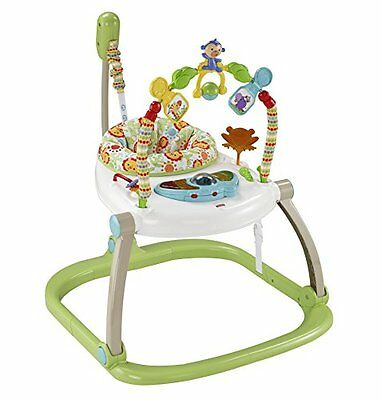 SEHR GUT: Fisher-Price Rainforest Friends SpaceSaver Jumperoo by Fisher-Price