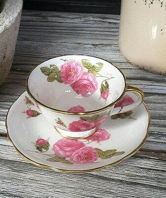 lovely shabby chic cup and saucer tiny foley made in england shabby chic