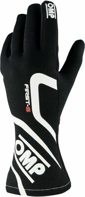 FIA OMP FIRST-S Gloves Super Race Rally Motorsport first s Black Driving 8856