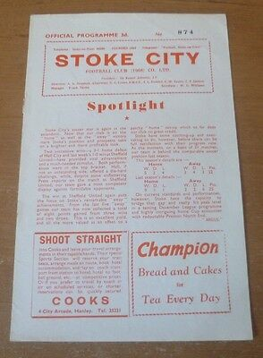 Stoke City v Middlesbrough, 1959/60 - Division Two Match Programme