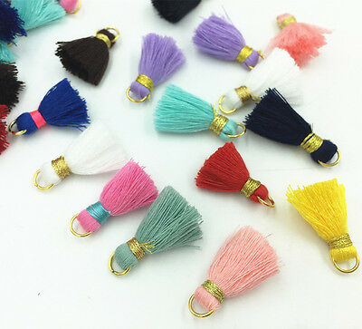 Mix Mini Thread Tassel Jewelry making supplies Earrings Applique Tassel Trim