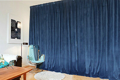 Large Thick Velvet Blockout  Curtains 560x 230cm PINCH PLEAT 2 panel +30 Hooks