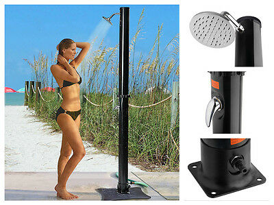 Outdoor Pool Shower Head Solar Set Swimming Above Ground Garden Patio Tall Kit