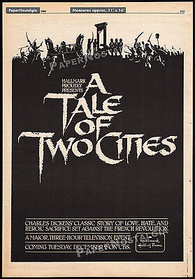 A TALE OF TWO CITIES__Orig. 1980 Trade AD / poster__CHRIS SARANDON_PETER CUSHING