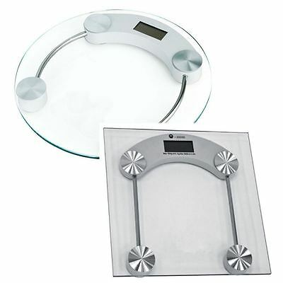 180Kg LBS DIGITAL ELECTRONIC GLASS LCD BODY WEIGHT BATHROOM WEIGHING SCALE