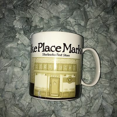 2008 Starbucks City Mug Collectors Series Pikes Place Market First Store 16oz.