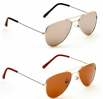 Kids Aviator Sunglasses Full UV 400 Children Boys Girls Ages 4 - 10 Yrs