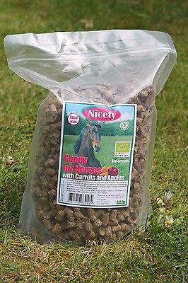 100% Organic Horse Treats with carrots and apples