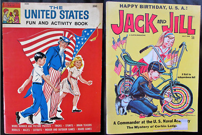 Activity Magazines For Kids: Happy Birthday USA (1968)& The United States (1964)