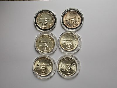 (6)1979/1980 Mexican Onza Silver Coins