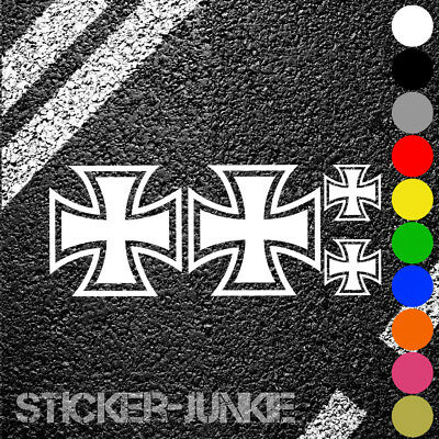 Iron Cross Oldschool Auto Aufkleber Set Tuning Sticker Rat Look Eisernes Kreuz