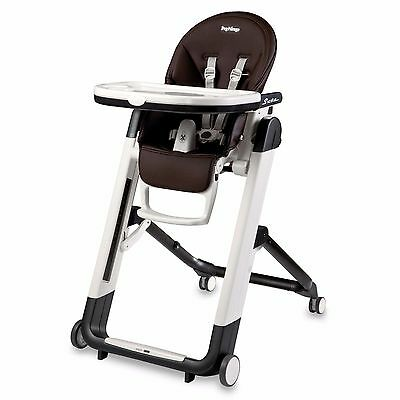 Peg Perego Siesta High Chair In Cacao Brown Ultra Compact Multi Functional New