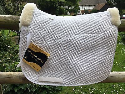 White Cottage Craft Sheepskin Half Lined Dressage Square/saddlecloth Full BNWT