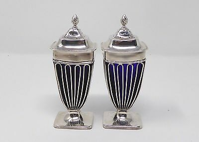 Stunning and Rare Pair of Art Deco Silver Salts in the Empire Style 1920