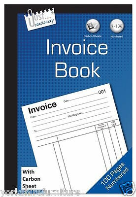 2 x Full Size A5 Invoice Duplicate Receipt Book Numbered Cash 1 - 80 Pages Pad