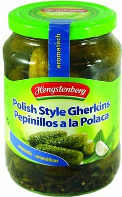 Hengstenberg Pickles, Polish Style, 27.35 Ounce Pack of 12