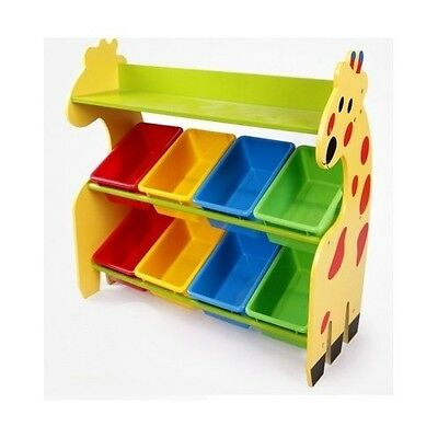 Kids Toys Organizer Furniture Bedroom Children Playroom New Storage Bins Giraffe