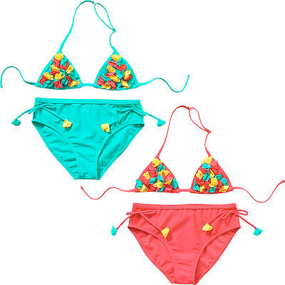 H2O Older Girls Triangle Bikini Set 3D Cut Out Flower Detail Two Piece 9-13 Yrs