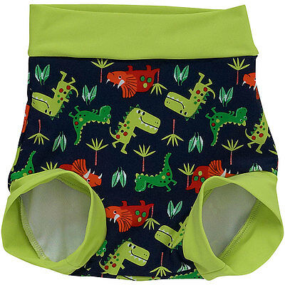 Bubbles Baby Boys Swim Diaper Nappy Cover Trunks Dinosaur Print Reuse Washable