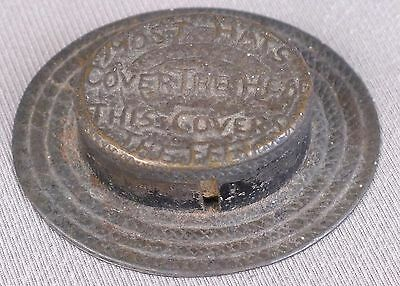 Victorian Novelty Tape Measure - Straw Hat with Slogan