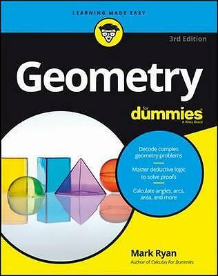NEW Geometry for Dummies, 3rd Edition By Ryan Paperback Free Shipping