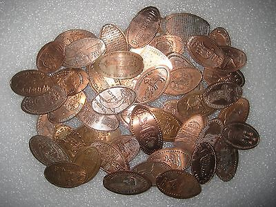 Nice Mix Of 50 ALL DIFFERENT Elongated Pennies Cents Lot 1C258