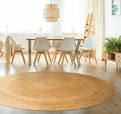 Small to Very large Jute Circle Plain Rustic Cottage Braided American Style rugs