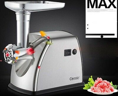 New Commercial Electric Stainless Steel Meat Grinder Sausage Kitchen Mincer *