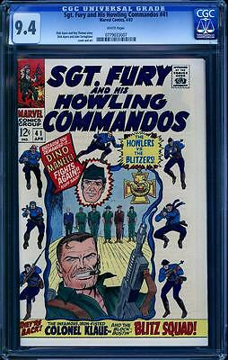 Sgt. Fury 41 in CGC 9.4, white pages