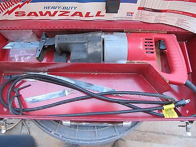 Milwaukee Sawzall Model 6509 with Case and Manual Gently Used Made in USA