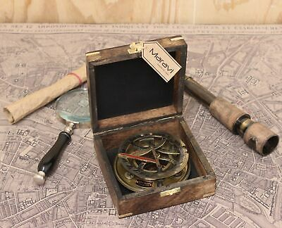 Maravi Antique Reproduction Table Top Compass with Sundial Gilbert & Sons 1895