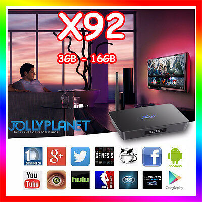 X92 OCTA CORE 2GHz BOX ANDROID 7.1 16GB 3GB S912 WIFI TV 4K 60fps