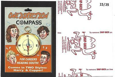 Topps  Wacky Packages 50Th Anniversary*red Ludlow Back One Direction Compass 23/