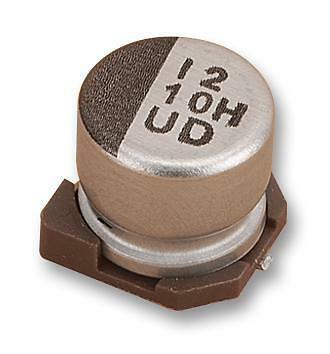 SMD Aluminium Electrolytic Capacitor, Radial Can - SMD, 100 µF, 50 V, UD Series