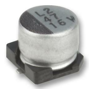10 X SMD Aluminium Electrolytic Capacitor, Radial Can - SMD, 100 µF, 16 V, MCEEL