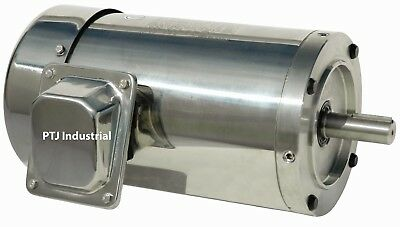 20 hp electric motor 256tc stainless steel washdown 3 phase round 3600 rpm