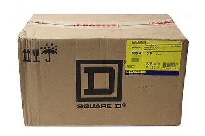 New/Sealed! Square D MGL36600 Circuit Breaker 600V, 3-Pole, 600A - New in Box