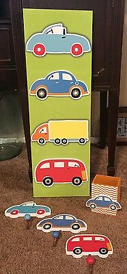 Transportation car truck art coat hangers boy nursery wall art decor