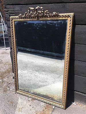 Beautiful Antique French Gilt Framed Mirror