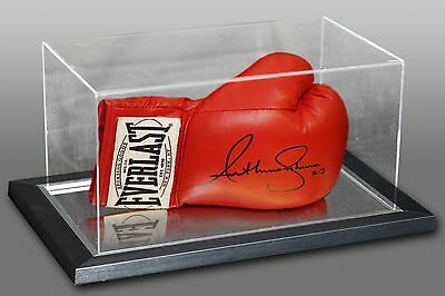 Anthony Joshua Signed Red Everlast Autograph Boxing Glove In An Acrylic Case :AJ