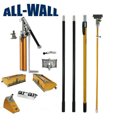 """TapeTech Drywall Finishing Set With 10"""" & 12"""" Boxes Plus Extendable Handle"""