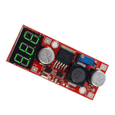 Dc Adjustable Buck Step Down Converter lm2596 Voltage Regulator w/ LED Voltmeter